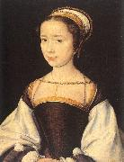 Lyon, Corneille de A Young Lady oil on canvas